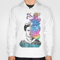frida kahlo Hoodies featuring Frida Kahlo -  by Le Vent