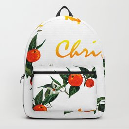 Christmas wreath with oranges Backpack