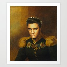 Elvis Presley - replaceface Art Print