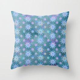 Mela's Sense of Snow Throw Pillow