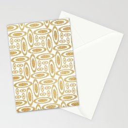 Ovals of Gold Stationery Cards