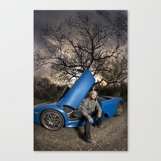 Bam Margera - Eerie tree, Blue ride Canvas Print