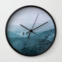 Blue smoky mountains Wall Clock