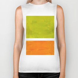 Retro Lime Green Minimalist Abstract Color Block Rothko Midcentury Modern Art Biker Tank