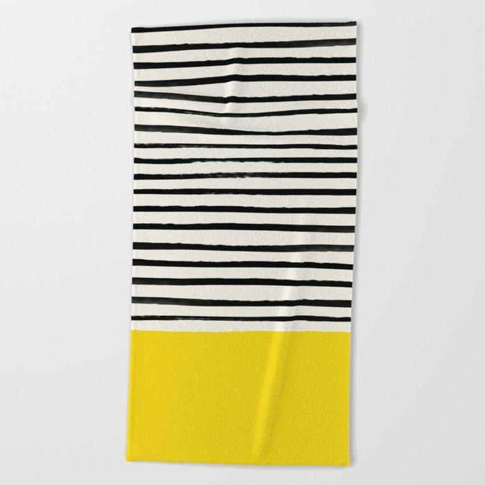 Sunshine x Stripes Beach Towel