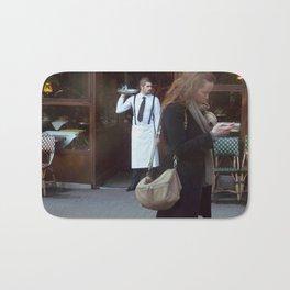 Waiter at the Door, Paris Bath Mat