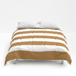 Durian - solid color - white stripes pattern Comforters