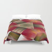 pyramid Duvet Covers featuring Pyramid by Deborah Janke