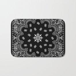 black and white bandana pattern Bath Mat