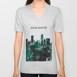 Alicante Skyline Unisex V-Neck