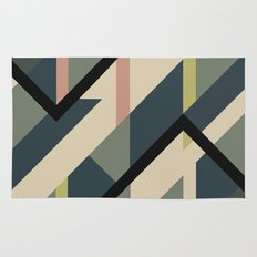 Modernist Dazzle Ship Camouflage Design Rug