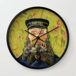 The Postman (Joseph Roulin) (1888) by Vincent Van Gogh. Wall Clock