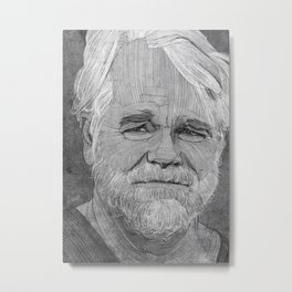 Philip Seymour Hoffman illustration Metal Print