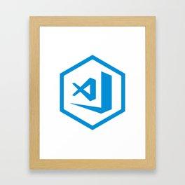 visual studio code sticker Framed Art Print