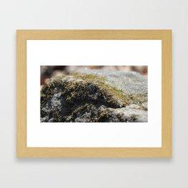Glittering Rock Framed Art Print