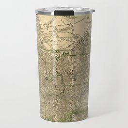 Vintage Map of Montana (1881) Travel Mug