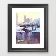 New York - Promenade hivernale Framed Art Print