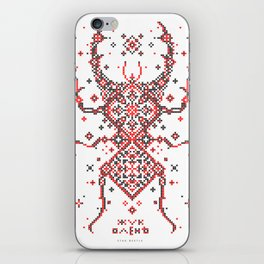 Stag Beetle Ornament iPhone Skin