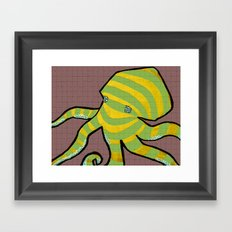 Octotile Framed Art Print