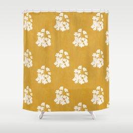Wild Geraniums in Yellow Shower Curtain