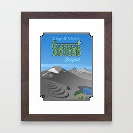 Landmarks of Life: Sisters, Oregon Framed Art Print