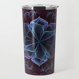 Ornate Blossom in Cool Blues Travel Mug