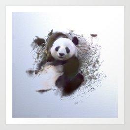 Animals and Art - Panda Art Print