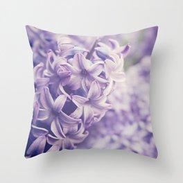 Purple Hyacinth Throw Pillow