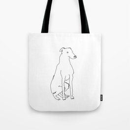 Greyhound (Black) Tote Bag