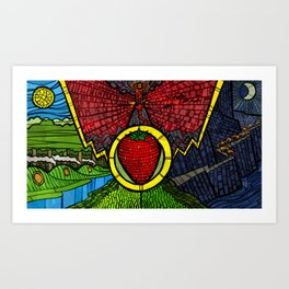 The Taste of Strawberries (Lord of the Rings) - NO TEXT Art Print