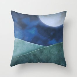 A Moon Filled Night Throw Pillow