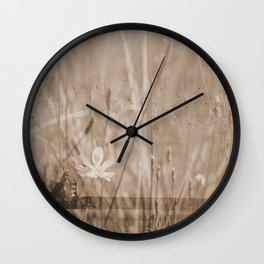 Landscape behind the dike Wall Clock