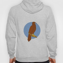 Australian Wedge-tailed Eagle Perch Drawing Hoody