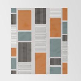 Mid Century Modern Panels Throw Blanket