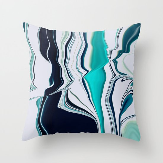 Blue Throw Pillow by Akwaflorell Society6