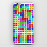 tetris iPhone & iPod Skins featuring Tetris by MarioGuti