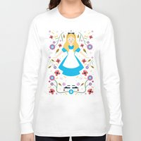 alice Long Sleeve T-shirts featuring Alice by Carly Watts