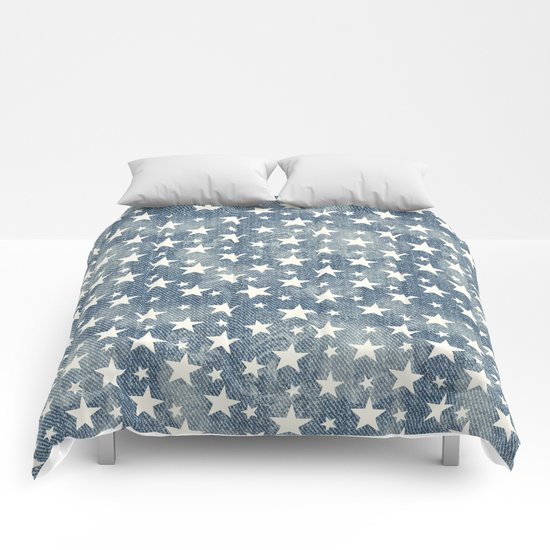 Stars with denim effect Comforters