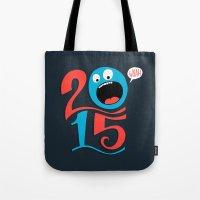 calendar 2015 Tote Bags featuring 2015 by Chris Piascik