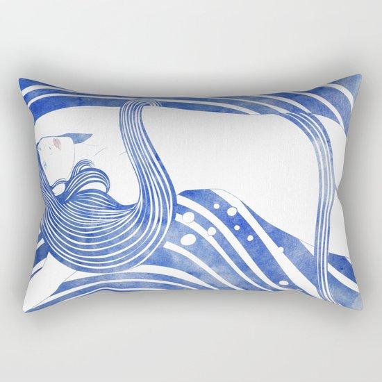 Water Nymph LXI Rectangular Pillow
