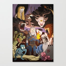 Witcher 3 - Monster Mash Canvas Print