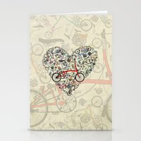 brompton Stationery Cards featuring I Love Brompton Bikes by Wyatt Design