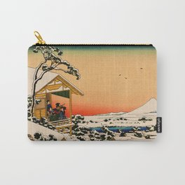 Snow at Koishikawa - Vintage Japanese Art Carry-All Pouch