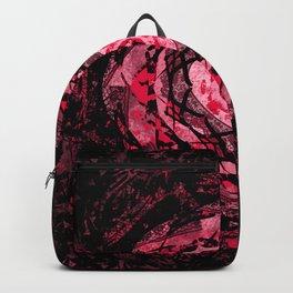 Gothic Pink and Black Heart Mandala Backpack