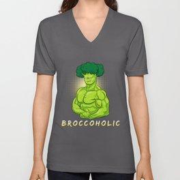 Broccoli Broccoholic Vegetable Unisex V-Neck