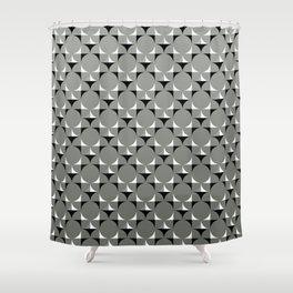 Mod Gray Shower Curtain