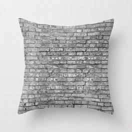 Vintage Brick Wall Throw Pillow