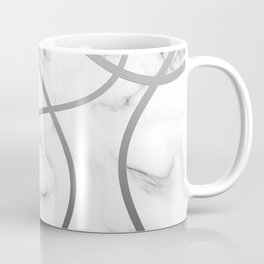Marble Rounded Lines Coffee Mug