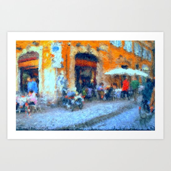 Cafe in Rome Art Print