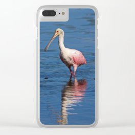Roseate Spoonbill at Ding V Clear iPhone Case